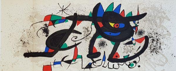 Lithograph Miró - Catalogue Cover