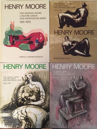 Illustrated Book Moore - Catalogue Raisonné of Henry Moore Graphic Work 1931 - 1984 (4 Volume Set)