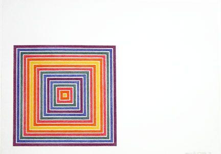 Lithograph Stella - Cato Manor (1973)State II: Multicolored Squares,