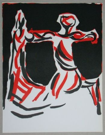 Lithograph Marini - Cavalier