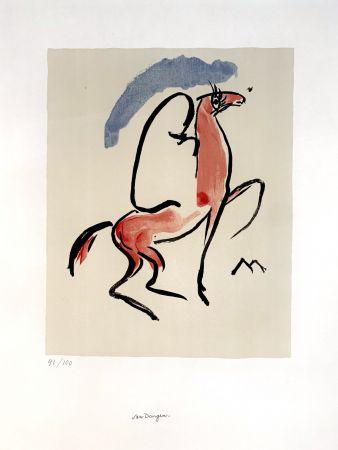 Lithograph Van Dongen - Cavalier Arabe
