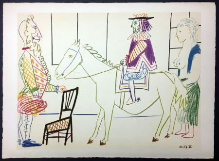 Lithograph Picasso - Cavalier costumé 1 (de La Comédie Humaine - Verve 29-30. 1954)