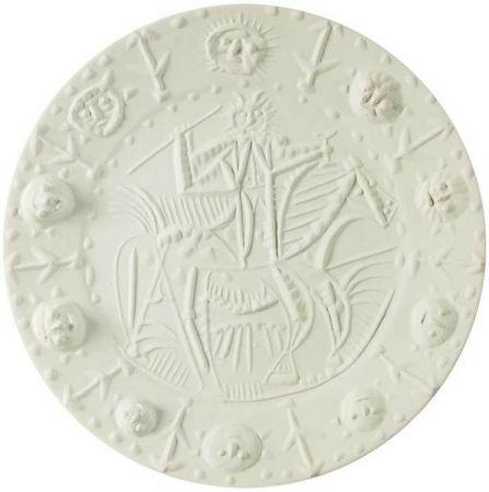 Lithograph Picasso - Cavalier faun