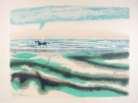 Lithograph Brasilier - Cavalier sur la plage