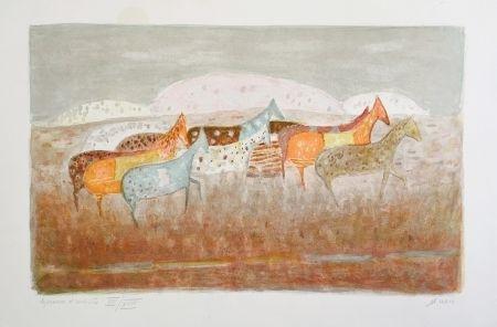 Lithograph Music - Cavalli Que Passano