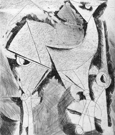 Engraving Marini - Cavallo