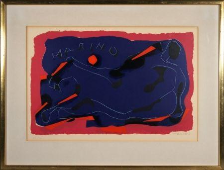 Lithograph Marini - Cavallo