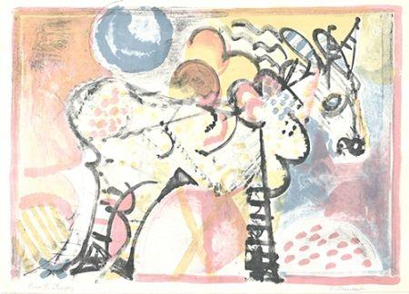 Lithograph Francesconi - Cavallo