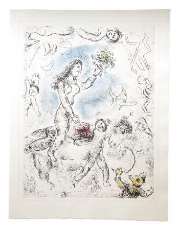 Etching And Aquatint Chagall - Ce lui qui dit les choses sans rien dire (Plate 22)