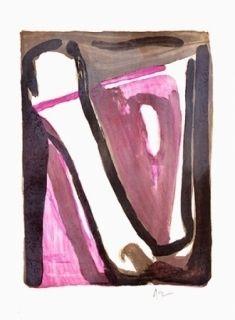 Lithograph Van Velde - Ce qui reste