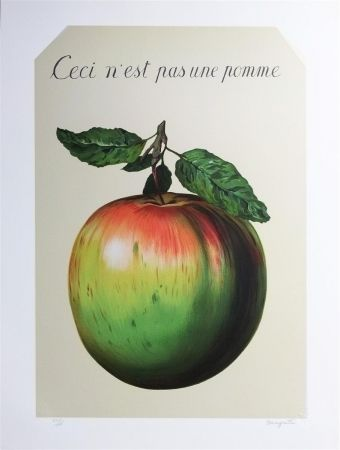 Lithograph Magritte - Ceci n'est pas une pomme (this is not an apple)