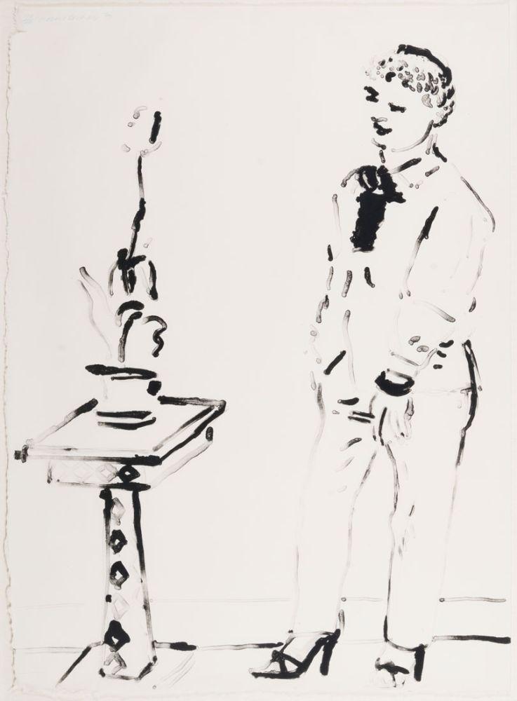 Lithograph Hockney -  Celia Amused