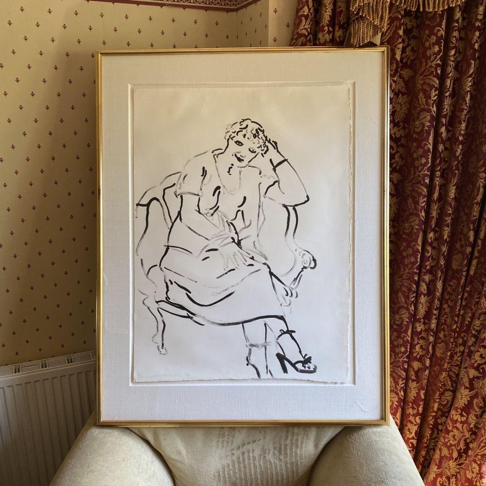 Lithograph Hockney -  Celia Inquiring