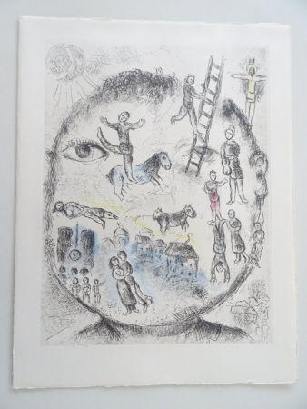 Etching And Aquatint Chagall - Celui qui dit les Choses sans rien dire, planche 528