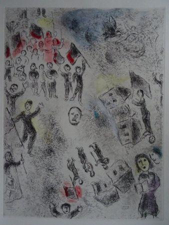 Etching And Aquatint Chagall - Celui qui dit les choses sans rien dire, plate 11.