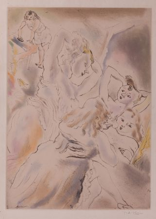 Etching And Aquatint Pascin - Cendrillon (Cinderella, the stepsisters)