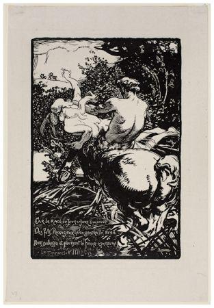 Woodcut Lepere - Centaur