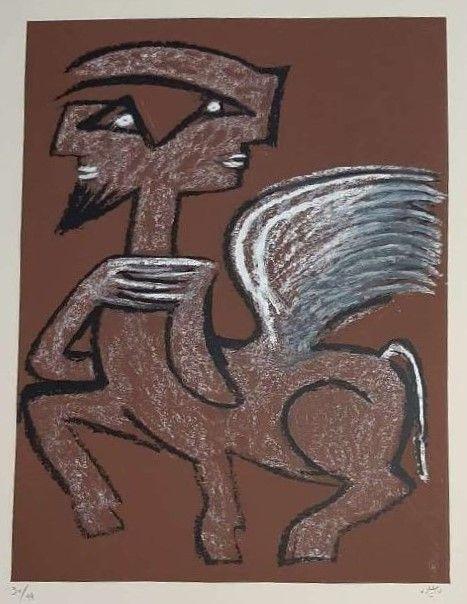 Screenprint Matta - Centaur Hemaphrodite