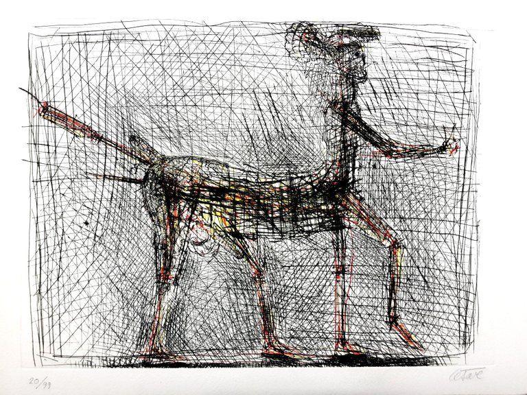 Lithograph Cesar - Centaure - Hommage à Picasso