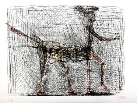 Etching Cesar - Centaure, hommage à Picasso