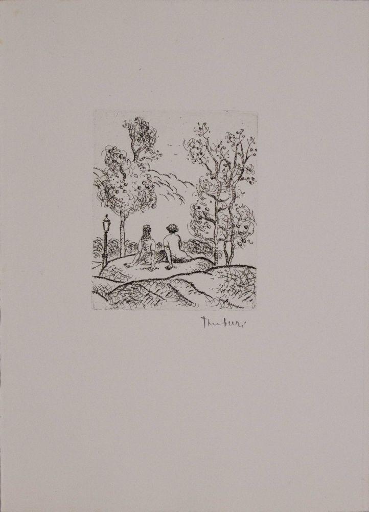 Engraving Tamburi - Central Park