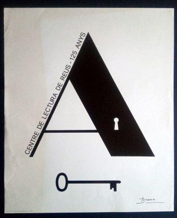 Poster Brossa - Centre de Lectura de Reus - 125 anys - 1984