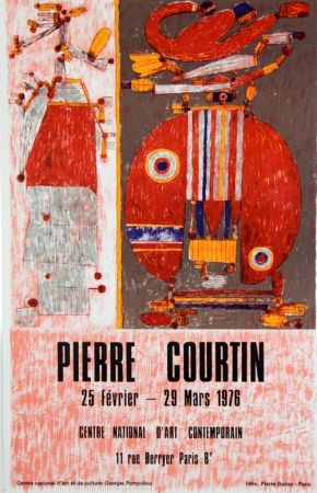 Lithograph Courtin - Centre National D'Art Contemporain