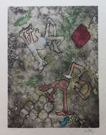 Etching And Aquatint Matta - Centre noeuds (Planche 2)