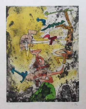 Etching And Aquatint Matta - Centre noeuds (Planche 9)