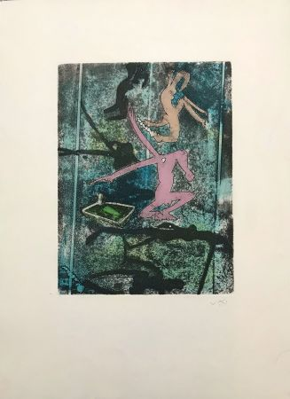 Etching And Aquatint Matta - Centre Noeuds – Plate 4