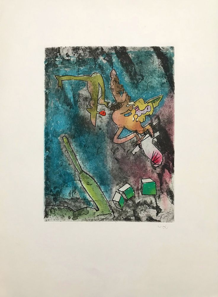 Etching And Aquatint Matta - Centre Noeuds – Plate 7