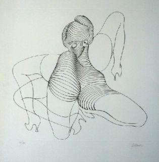 Engraving Bellmer - Cephalopode double