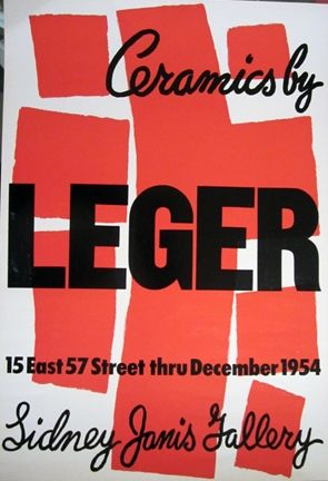 Lithograph Leger - Ceramics by Leger, Sidney Janis Gallery