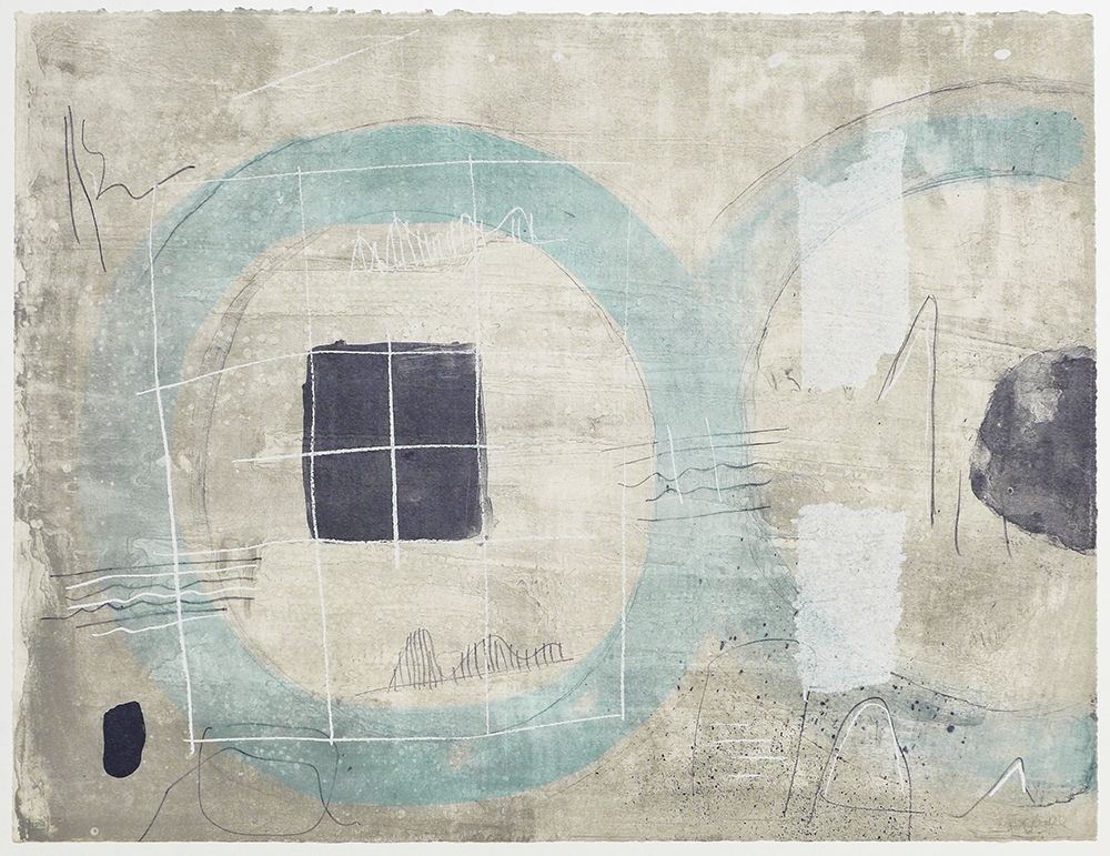 Lithograph Coll - Cercle Blue