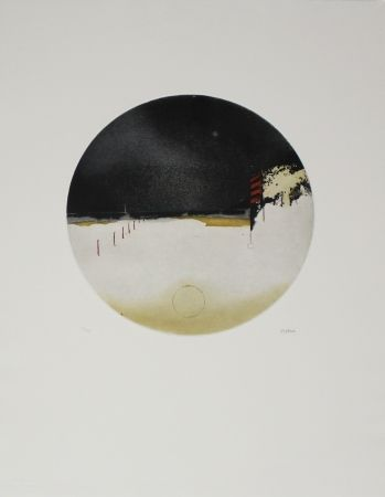 Etching And Aquatint Beeri - Cercle crépusculaire / Twilight Circle