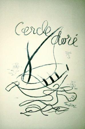 Lithograph Braque - Cercle doré