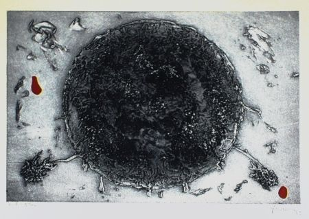 Etching And Aquatint Argimon - Cercle negre