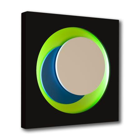 Woodcut Claisse - Cercle Noir et Vert