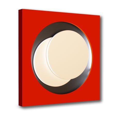 Woodcut Claisse - Cercle Rouge et Noir