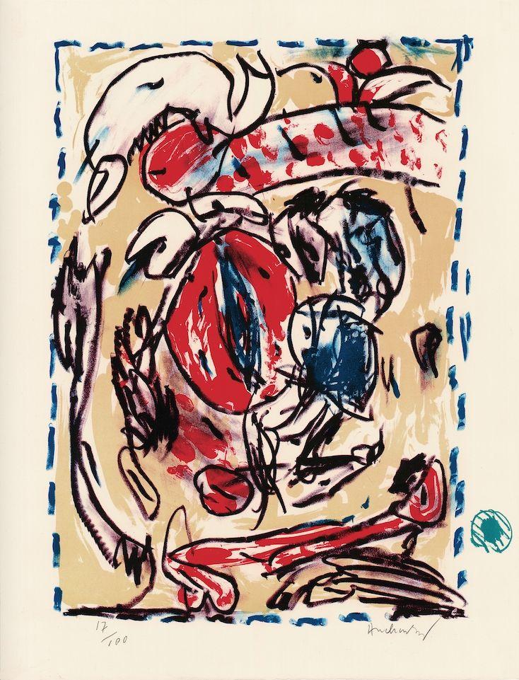 Lithograph Alechinsky - Cerclitude