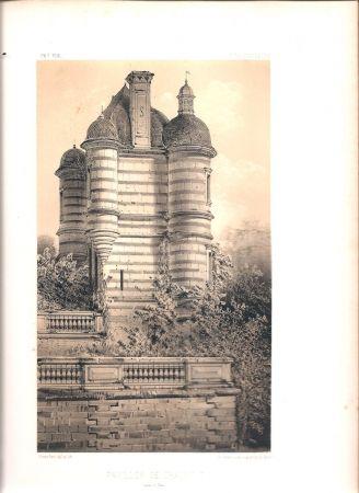 Lithograph Petit - Châteaux de France des XV et XVIe siècles par Victor Petit