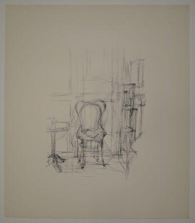 Lithograph Giacometti - Chaise et guéridon.