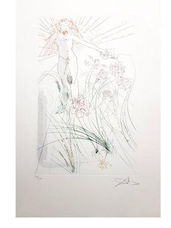 Lithograph Dali - Champ de fleurs de lys