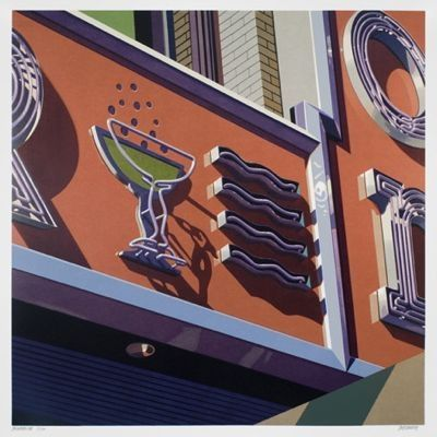 Screenprint Cottingham - Champagne