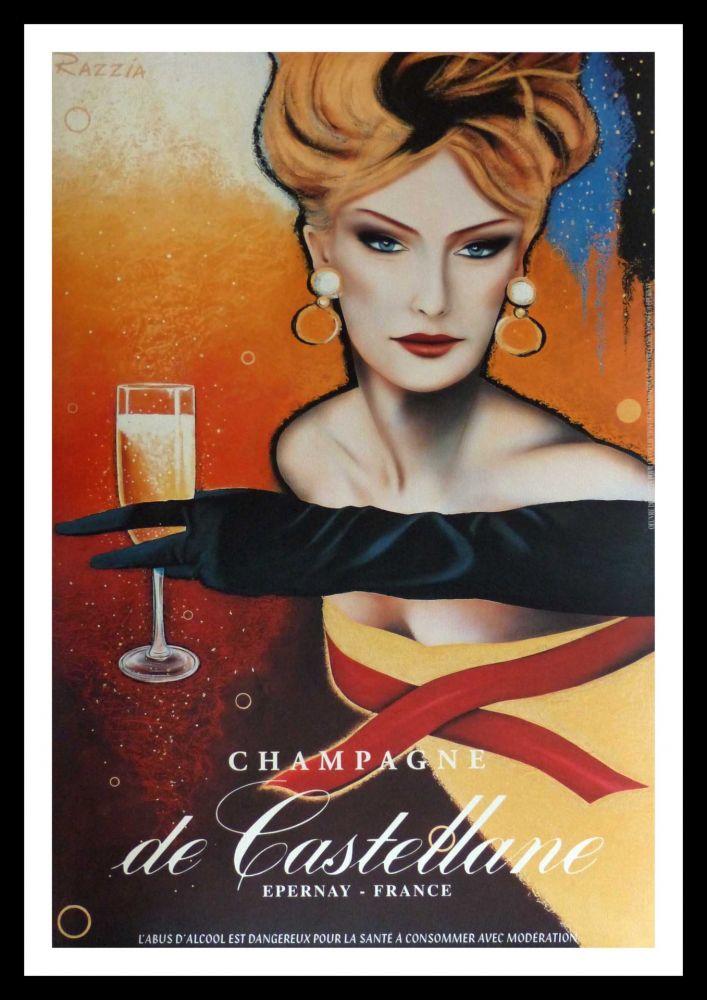 Poster Razzia - CHAMPAGNE DE CASTELLANE - EPERNAY FRANCE