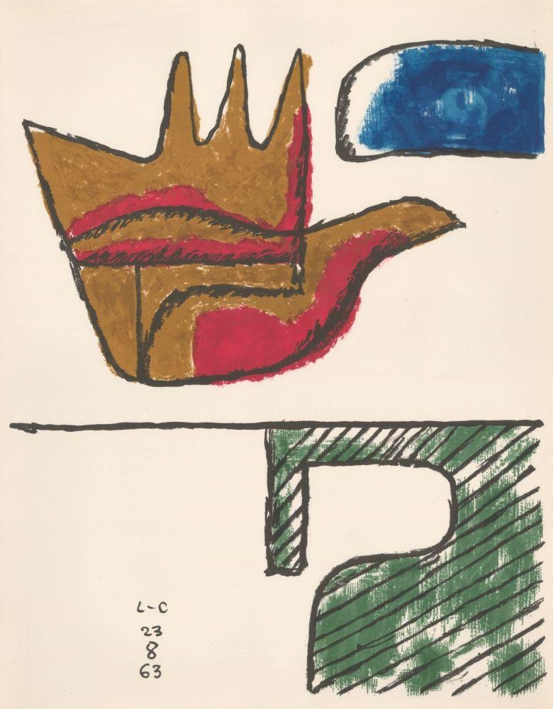 Lithograph Le Corbusier - Chandigarh Open Hand