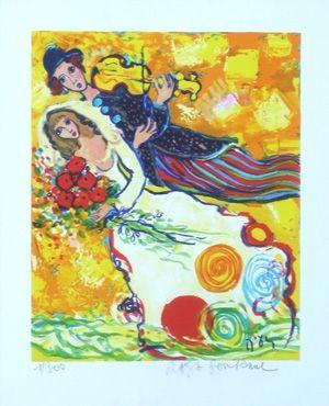 Lithograph Sorkine - Chanson jaune