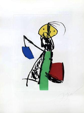 Etching Miró - Chanteurs des rues
