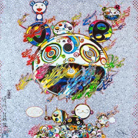 Lithograph Murakami - Chaos