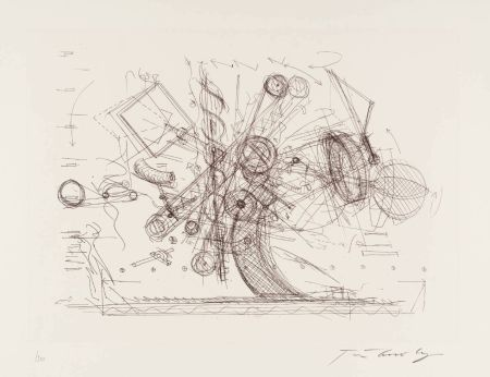 Etching Tinguely - Chaos I